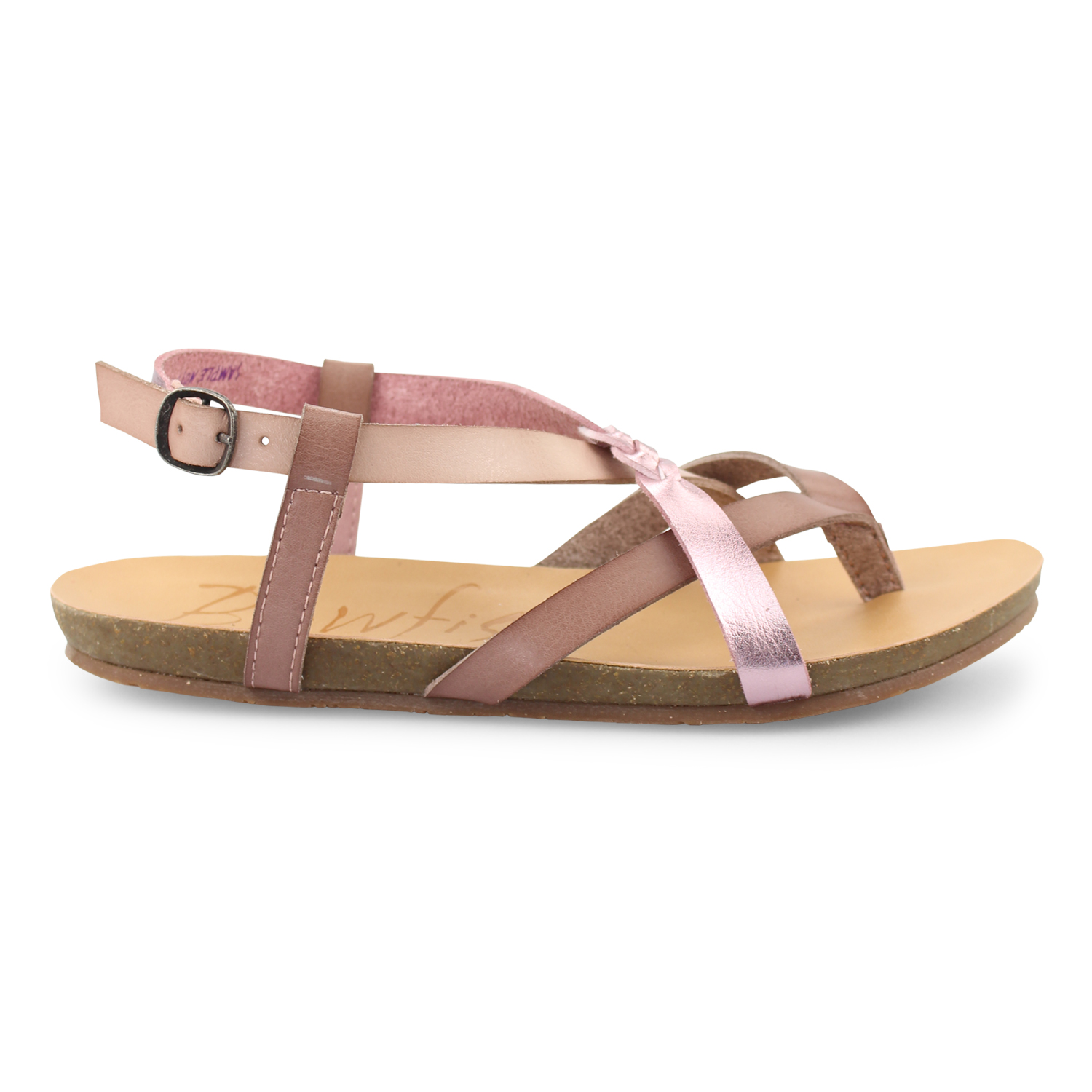 ac549a0a57f7 Granola-B - Strappy Sandal With Faux Cork Footbed