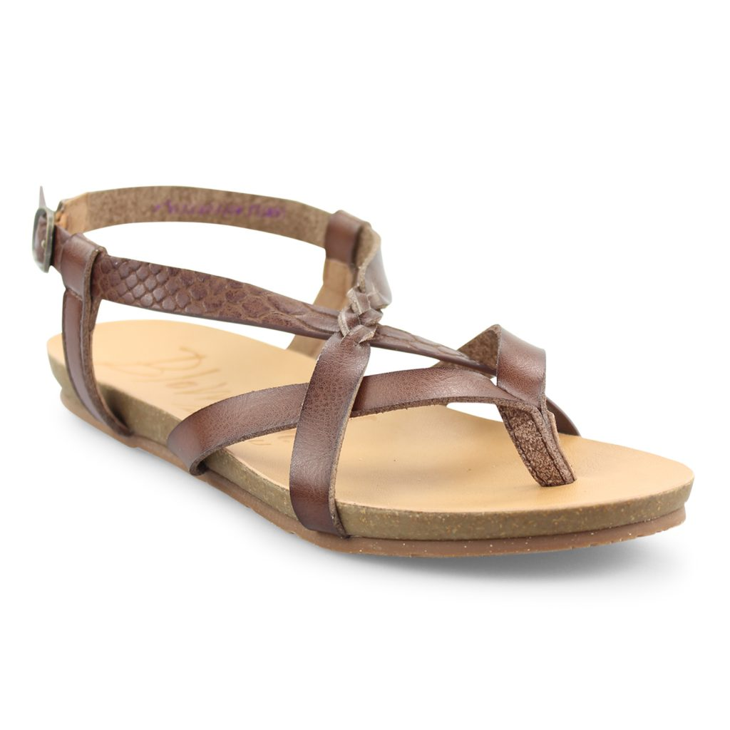 f8ec9a9e76f6 Granola-B - Strappy Sandal With Faux Cork Footbed