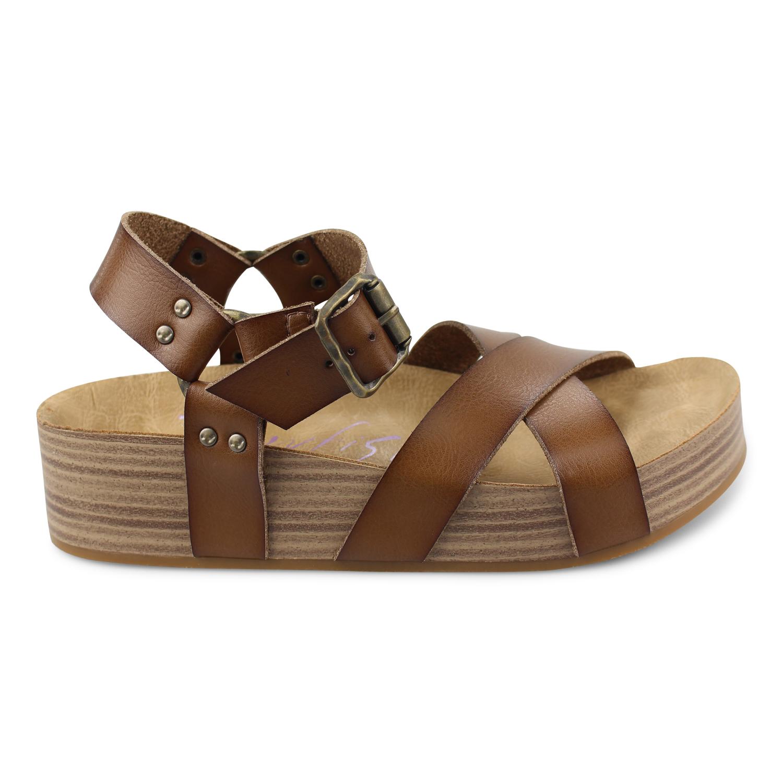 85521d9fca9 Makara - Platform Womens Sandal With Molded Footbed
